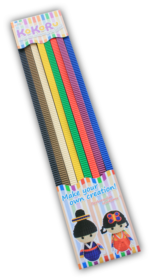 Creative Kokoru Color Corrugated Paper Set