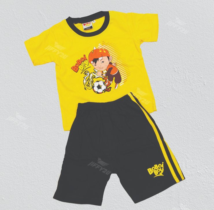 Original BoBoiBoy Football Character Boy Suit Set 100%Cotton (BBS 117)