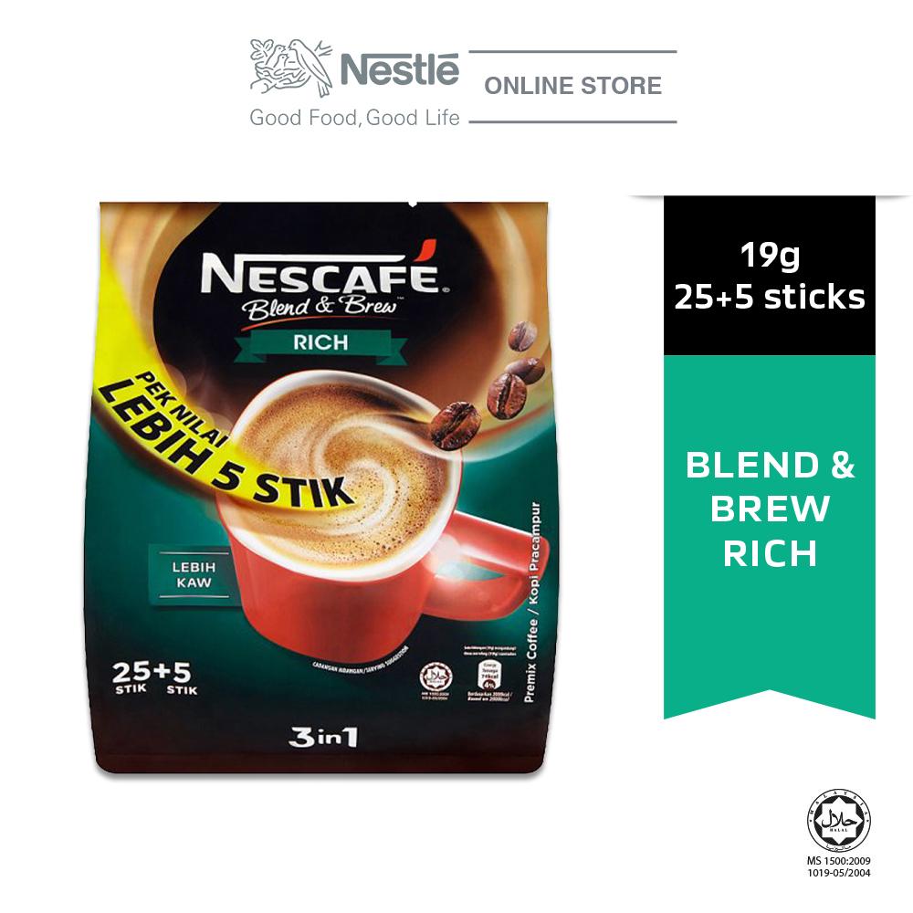 NESCAFE Blend and Brew Rich 19g Each 25+5 Sticks