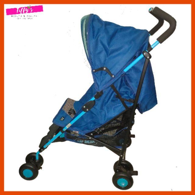 (Used) My Dear Baby Foldable Stroller Blue