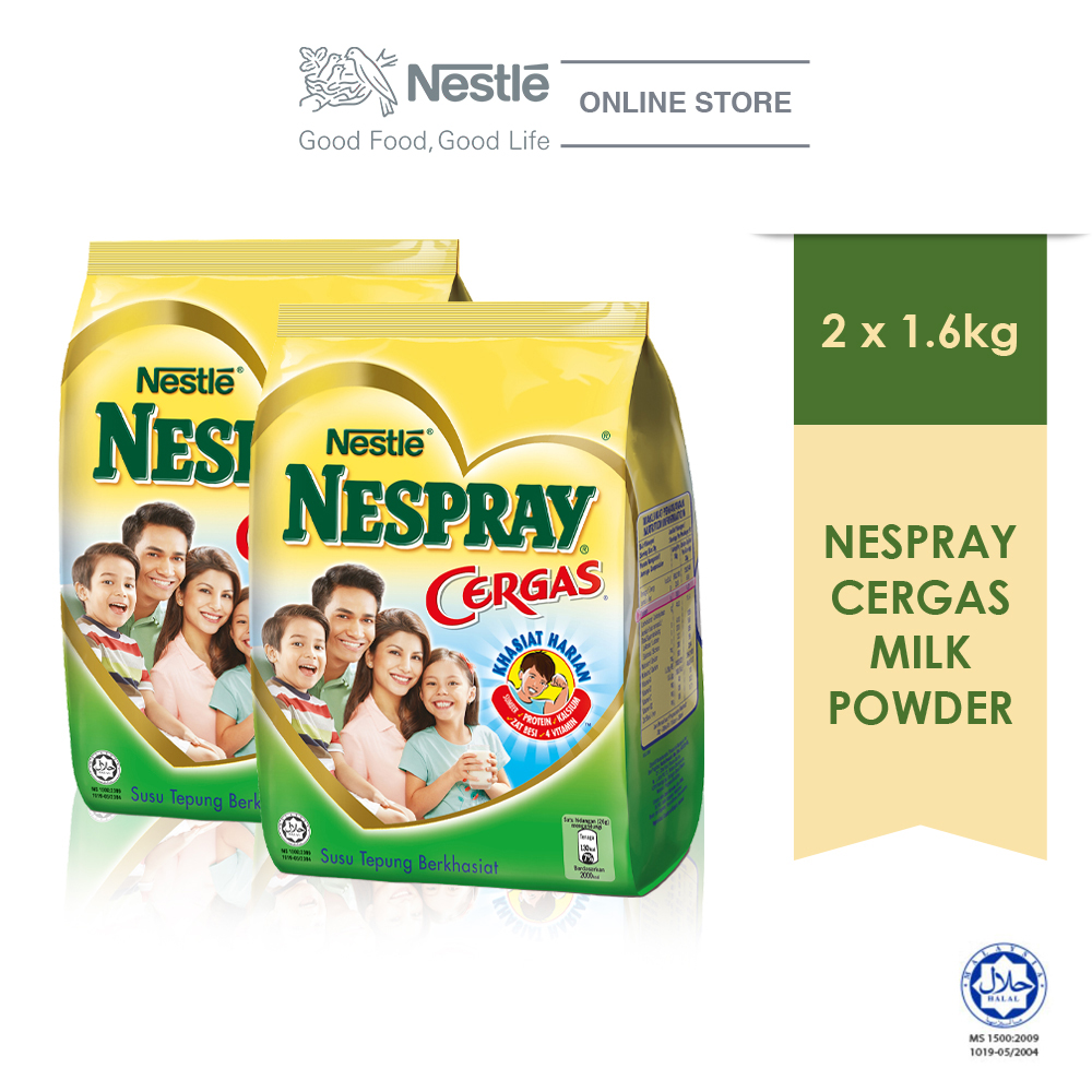 NESPRAY CERGAS Milk Powder Soft Pack (1.6kg x2 packs)