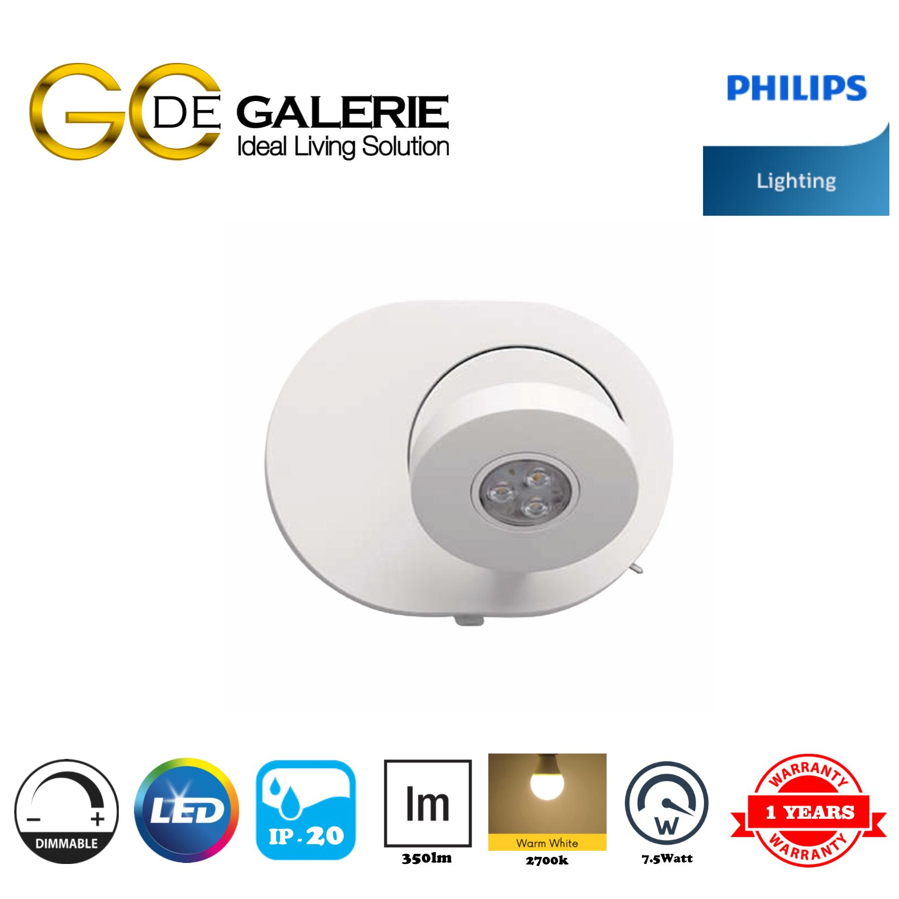 WALL LIGHT LED PHILIPS 69070/1 SCOPE WH 1x5W SELV