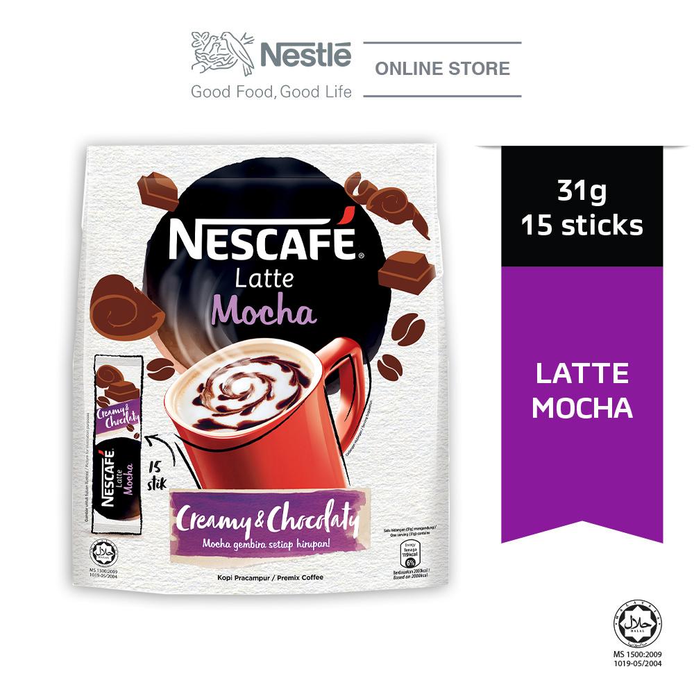 NESCAFE Latte Mocha 15 Sticks 31g
