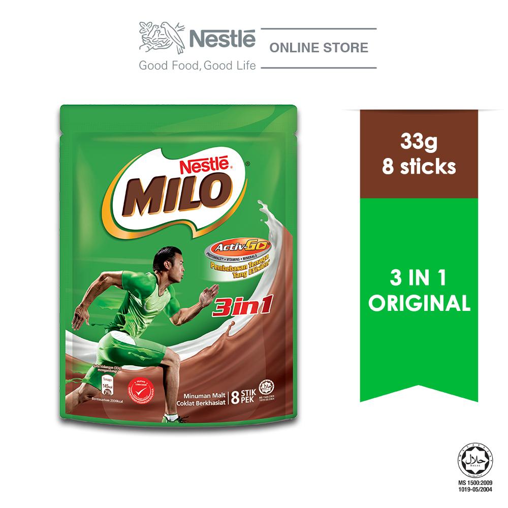 NESTLE MILO 3IN1 ACTIV-GO 8 Sticks 33g Exp.Date: Nov20