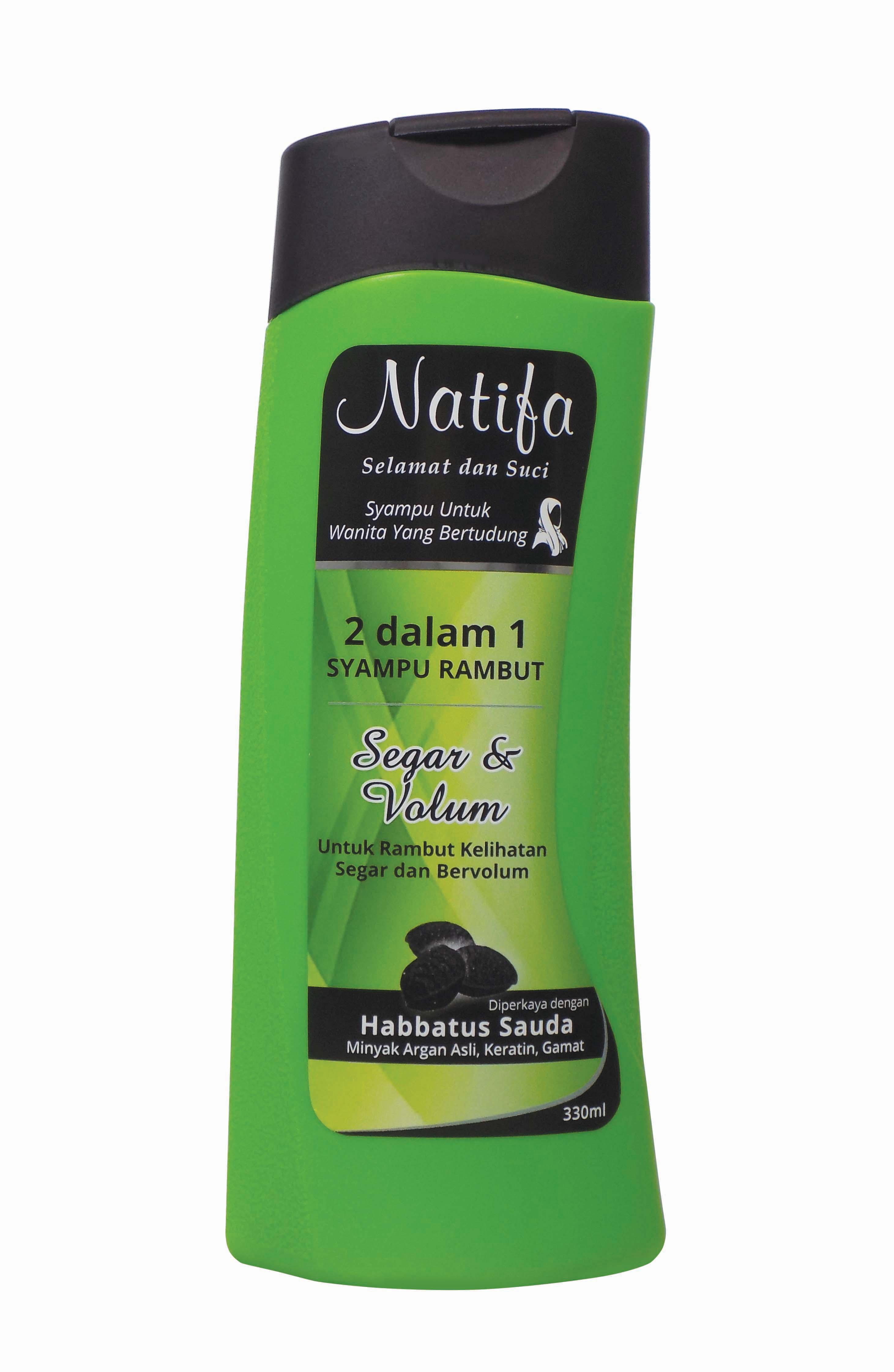 Natifa 2 Dalam 1 Syampu untuk Wanita Yang Bertudung  SERAR DAN VOLUM  (330ml)
