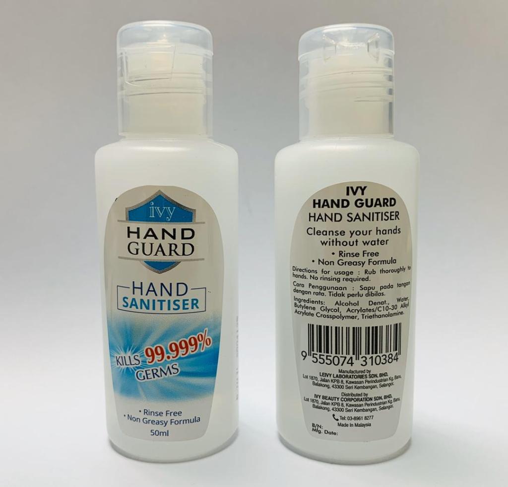 Ivy Hand Guard Hand Sanitiser (50ml)