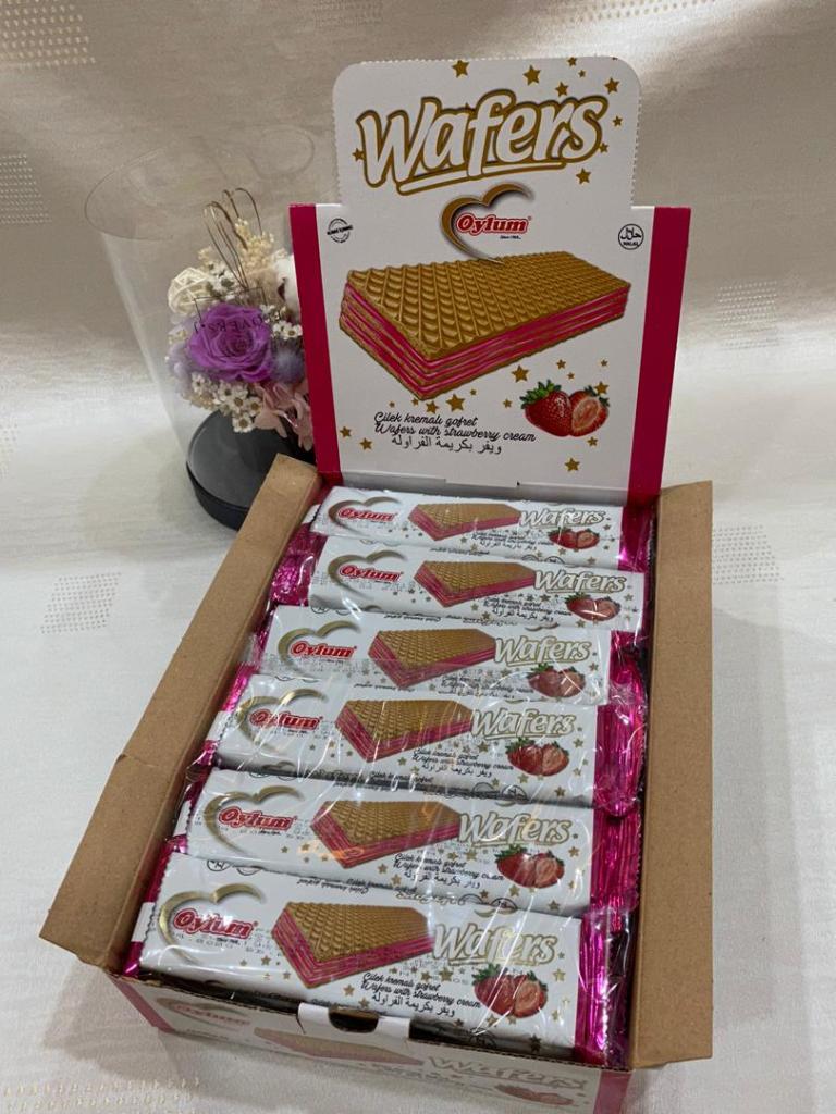 Oylum Wafers with Strawberry 35g (24 packs)