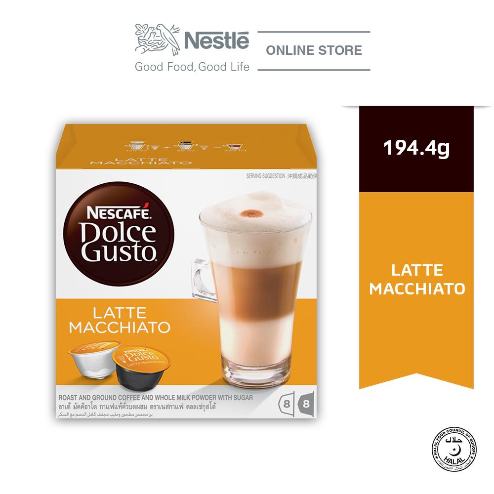 NESCAFE Dolce Gusto Latte Macchiato Coffee 16 Capsules Per Box Expdate:Aug20