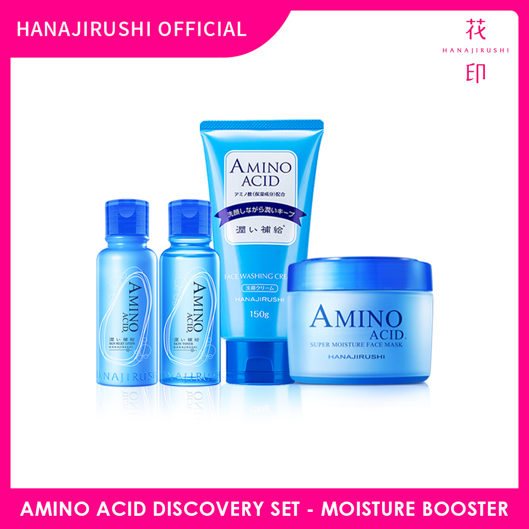 Hanajirushi Amino Acid Discovery Set - Moisture Booster Series Set 4 in 1