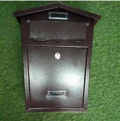 Solid Letter box (dark brown )