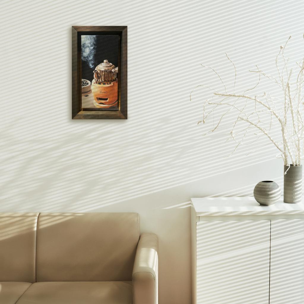 Teochew Pottery Pot Oil Painting By Amanda Ng 15.20 cm x 30.50 cm 潮州陶壶油画 黄薇璇/绘