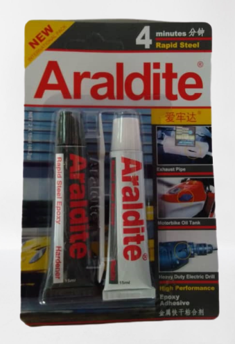Araldite 4 minutes Rapid Steel High Performance Epoxy Adhesive (2 x 15ml)