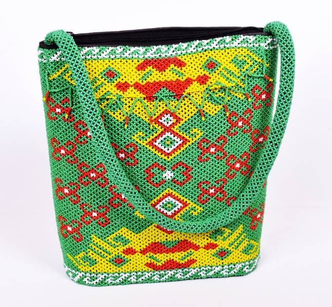 Traditional Handmade Manik BorneoHandbag (Green)