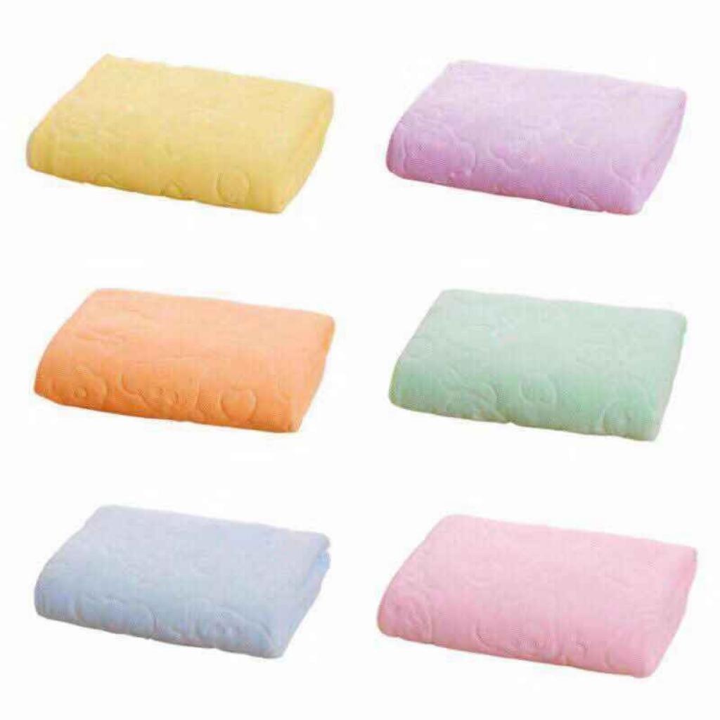 Soft Microfiber 70 x 140cm Bath Beach Towel Heart Flower Bear Design Quick Drying Super Absorbent