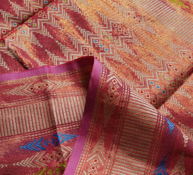 Traditional Kain Songket with Selendang Borneo Sarawak (1+1) Light Red