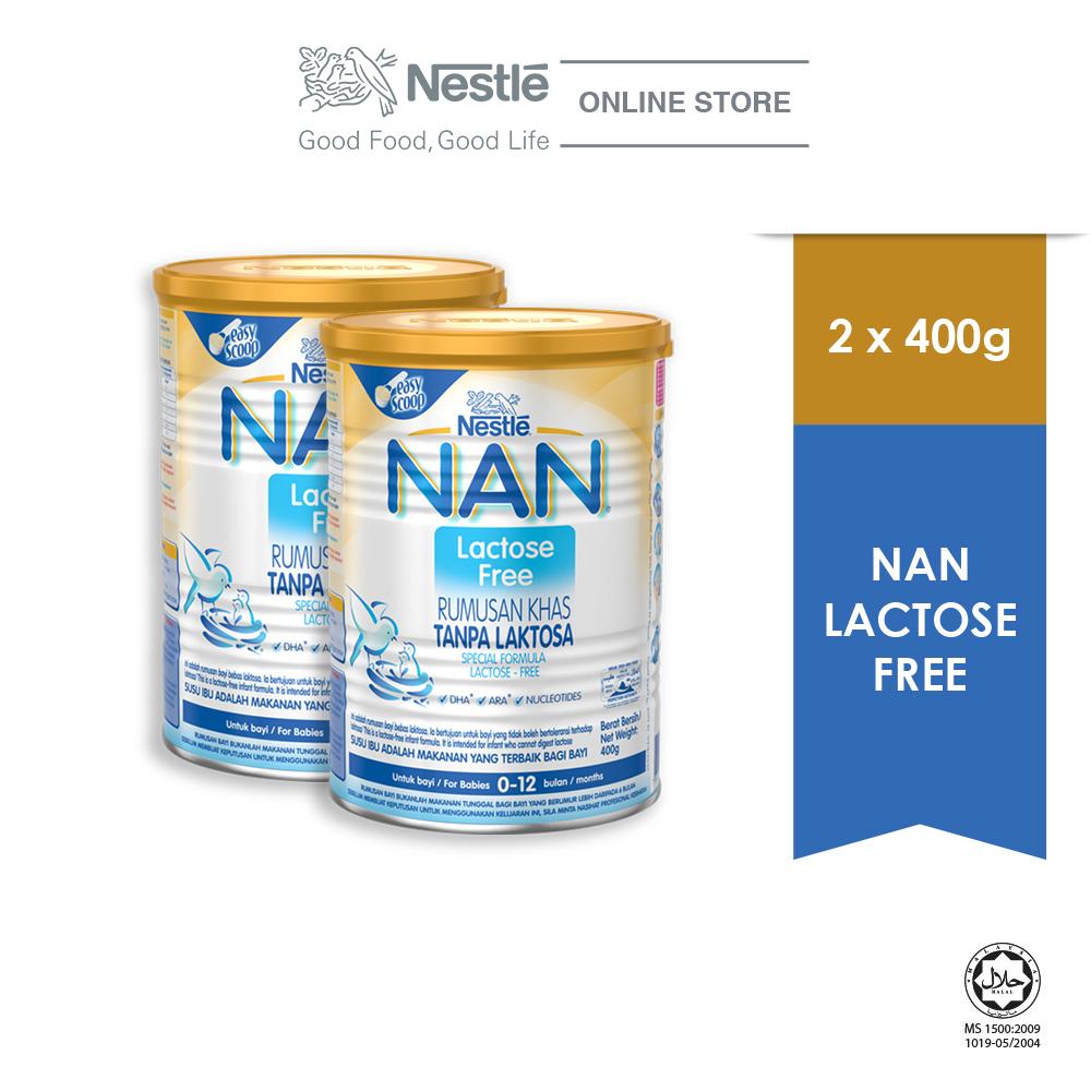 NAN Lactose Free 400g, Bundle of 2 ExpDate:DEC20