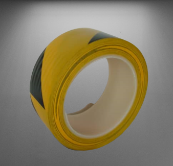 Hazard Warning and  Boundary Safety adhesive floor Tape (Black and Yellow Stripe)