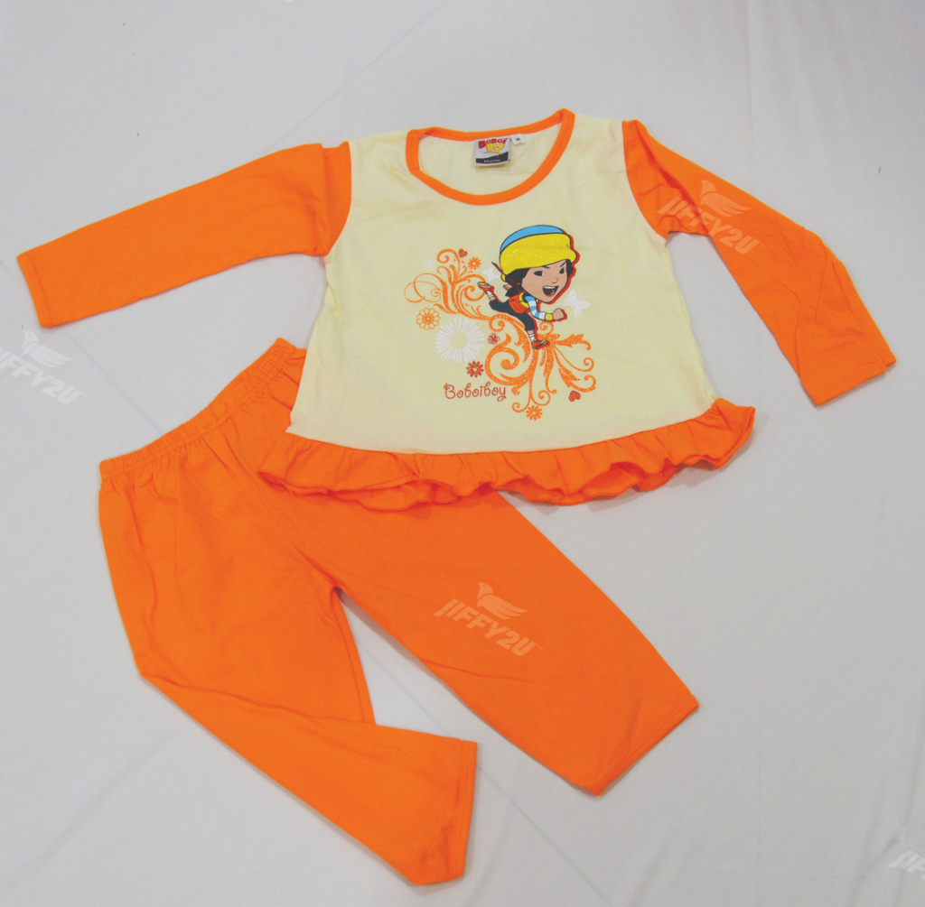 Original BoBoiBoy Ying Character Girl Pyjamas 100%Cotton (BGJ 109)