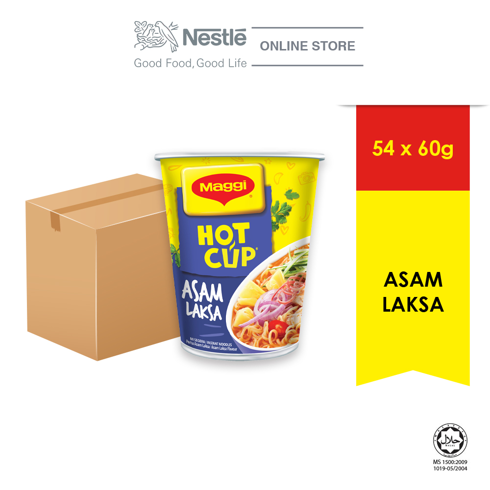 MAGGI Hot Cup Asam Laksa 54 Cups x 60g