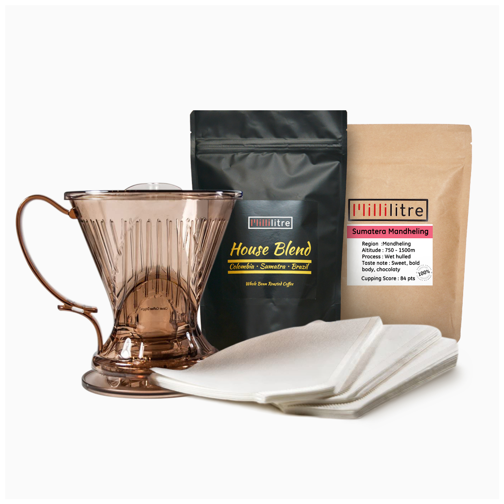 Home Coffee Brewer Start Pack : Clever Dripper with 2 bean selection