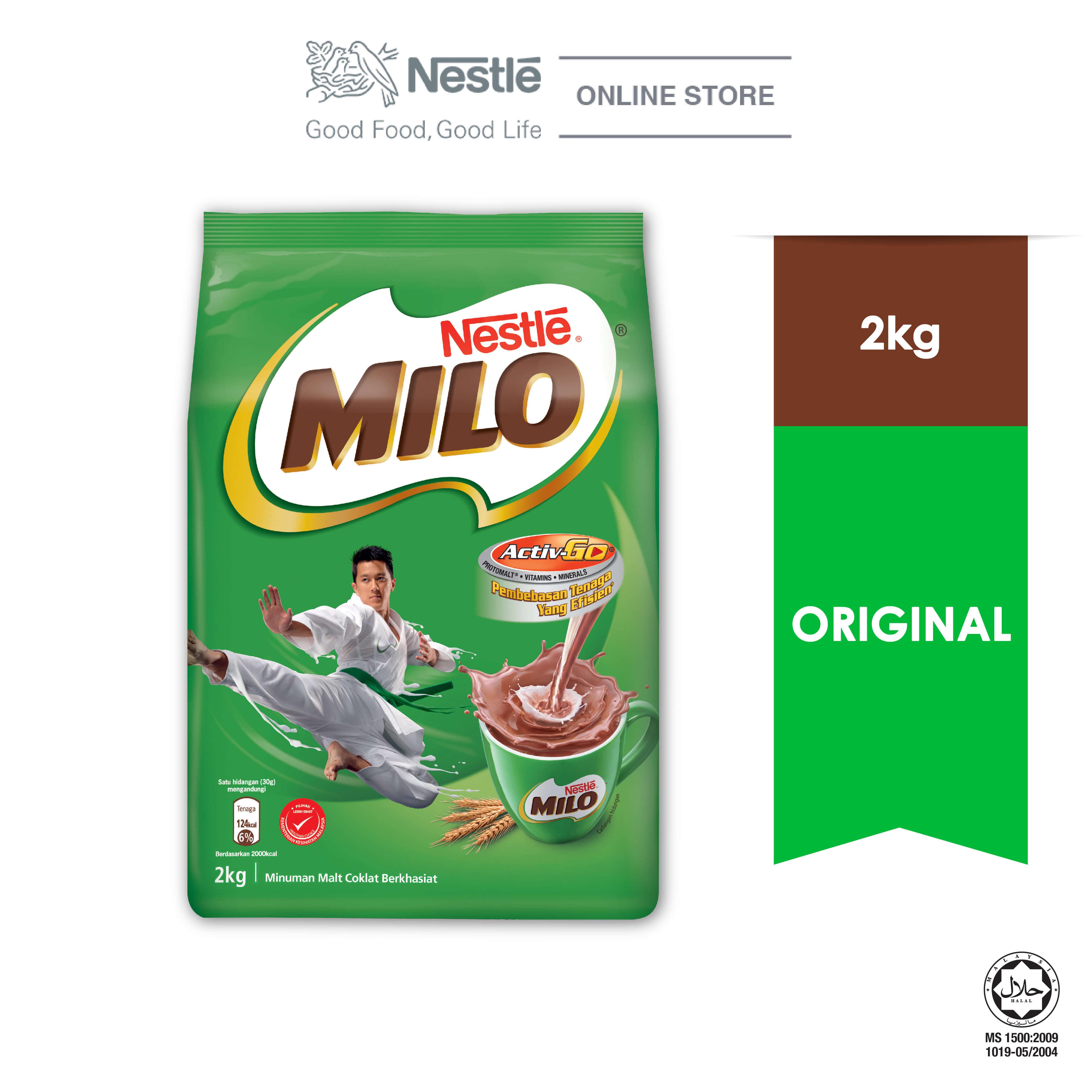 NESTLE MILO ACTIV-GO CHOCOLATE MALT POWDER Soft Pack 2kg Exp.Date : Oct20