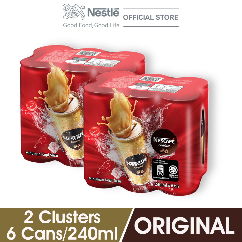 NESCAFE Original RTD 240ml , 2 Clusters