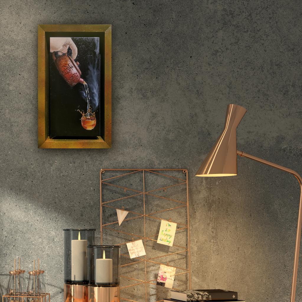 Zisha Pot Oil Painting By Lim Tang Zheng 15.20 cm x 30.50 cm 紫砂壶油画 林汤正 /绘