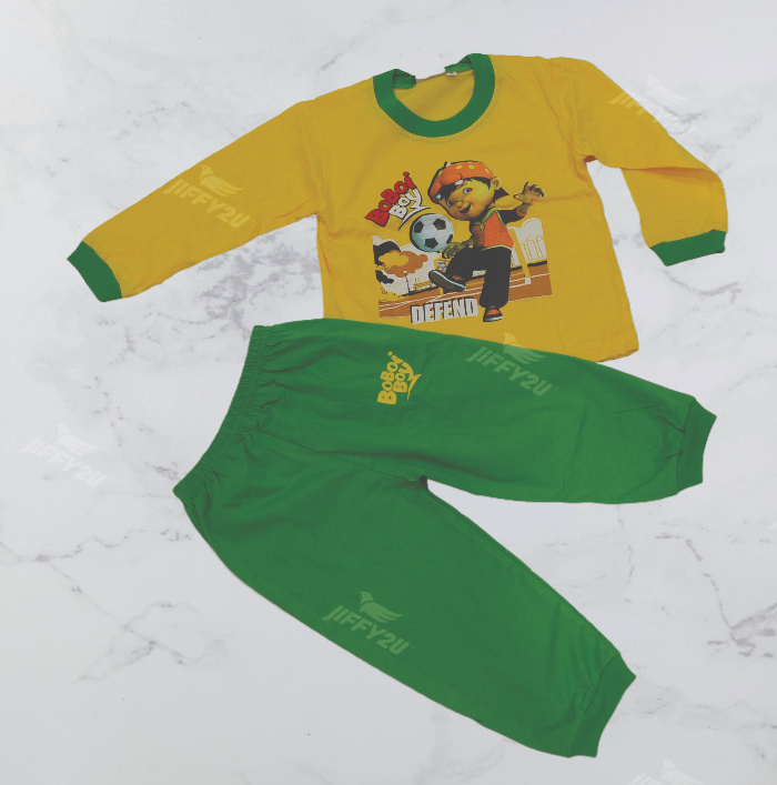Original BoBoiBoy Football Character Boy Pyjamas 100%Cotton (BPJ 119)