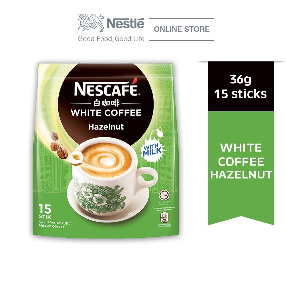 NESCAFE White Coffee Hazelnut 15 Sticks 36g
