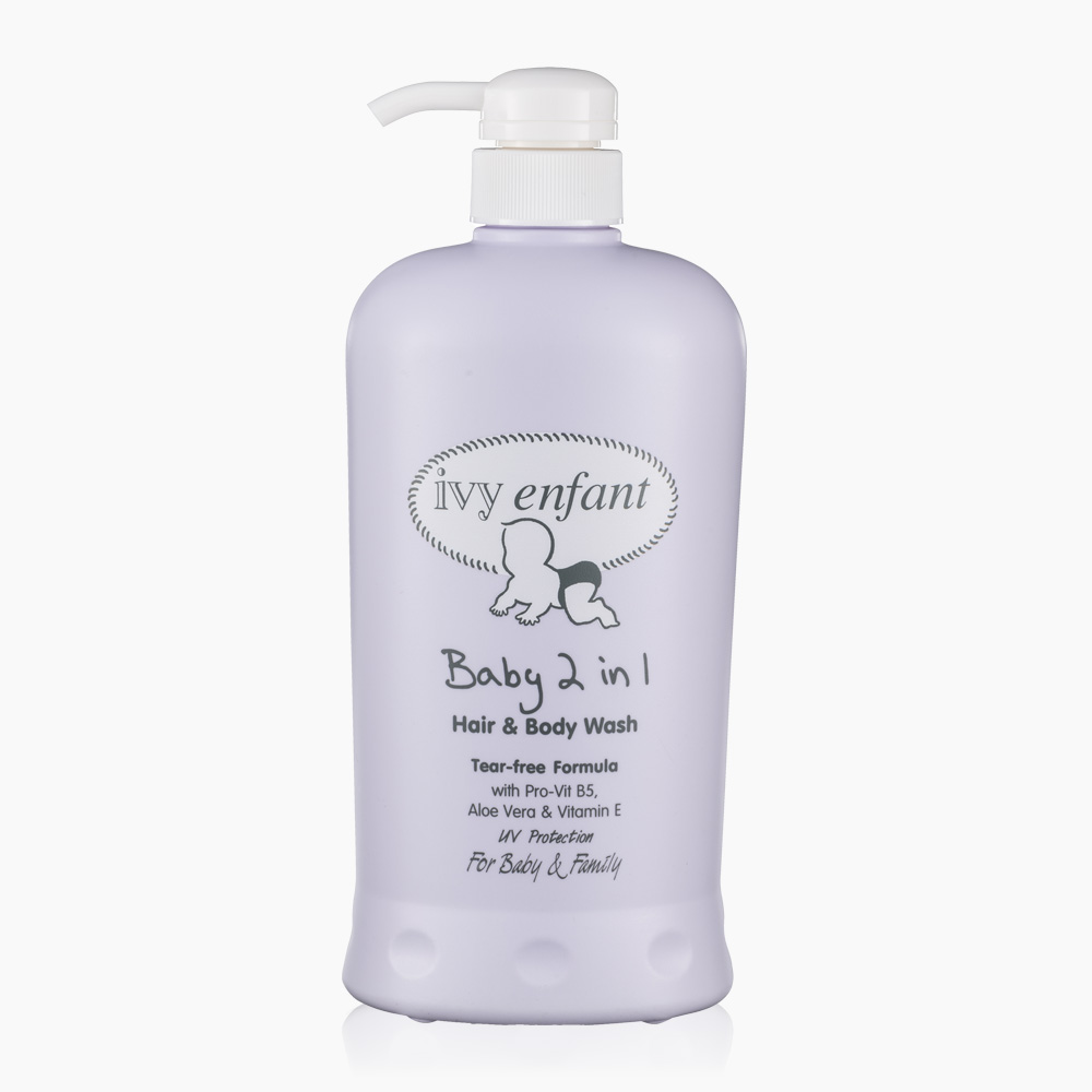 Ivy Enfant Baby 2 in 1 Hair & Body Shampoo (800ml)