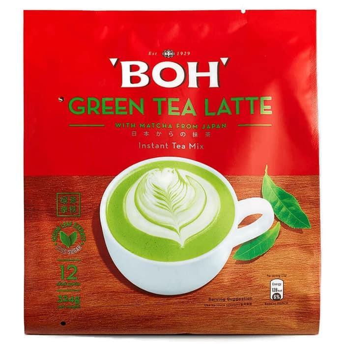 BOH Green Tea Latte With Matcha Instant Tea Mix 12x27g