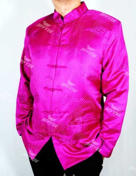 Designer Fuschia Pink Traditional Samfu