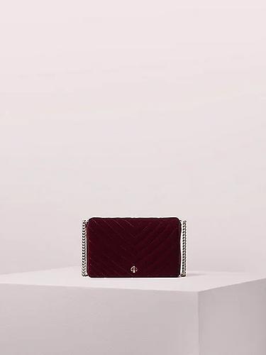 Kate Spade Amelia velvet chain wallet