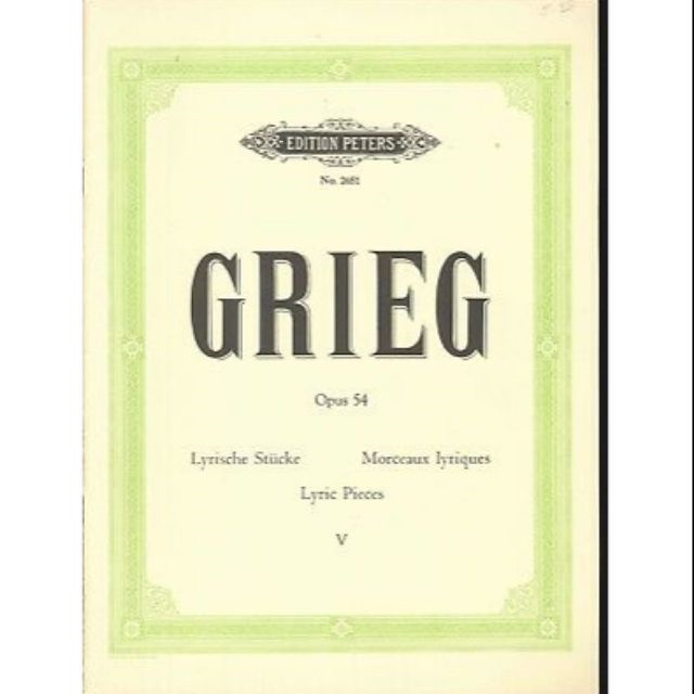 Grieg Lyric Pieces Op 54 Book 5 Piano Solo Edition Peters 2651 Norwegian March