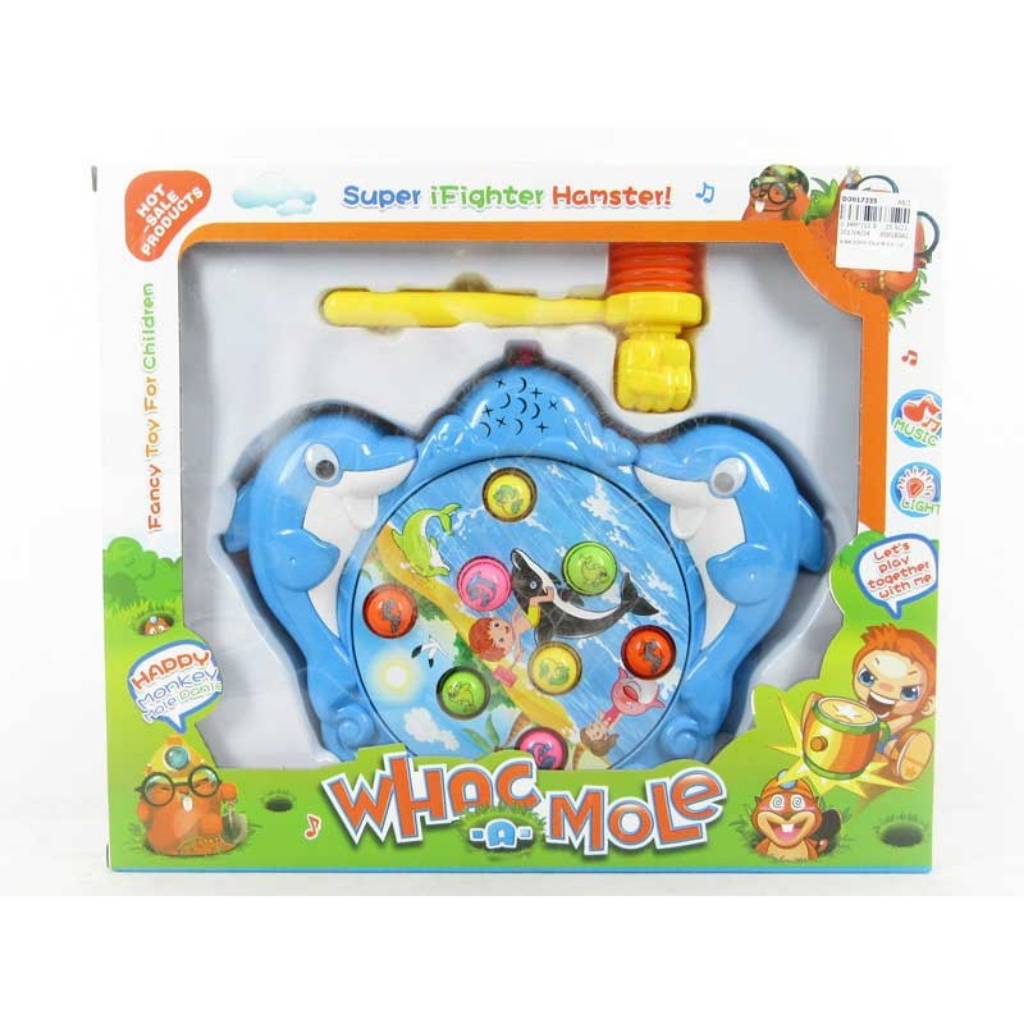 Super iFighter Hamster Hammer Hit Toy for Kids Dolphins Pink