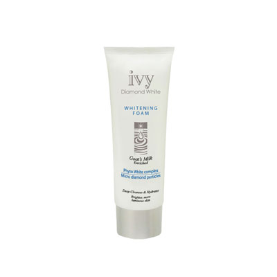 Ivy Diamond White Whitening Facial Foam Cleanser (130ml)
