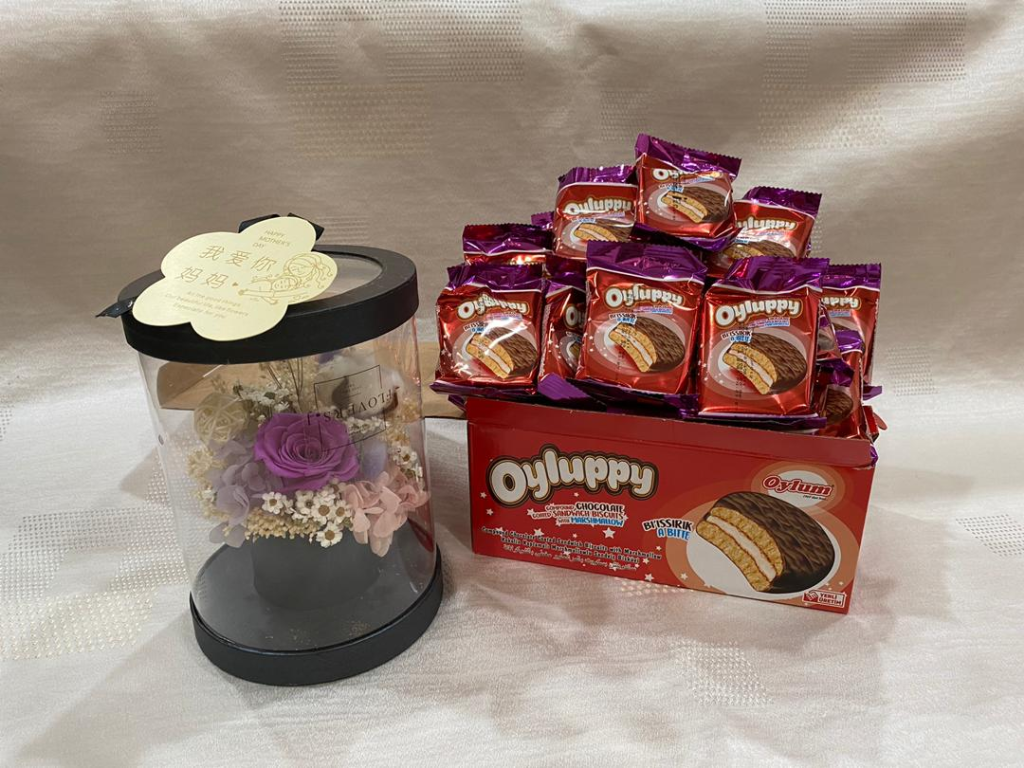 Oylum CHOCOLATE COATED SANDWICH BISCUIT WITH MASHMALLOW 20g (24 packs)