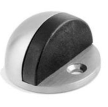 Door stopper -Satin oval shield