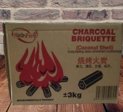 Charcoal briquette hexagonal