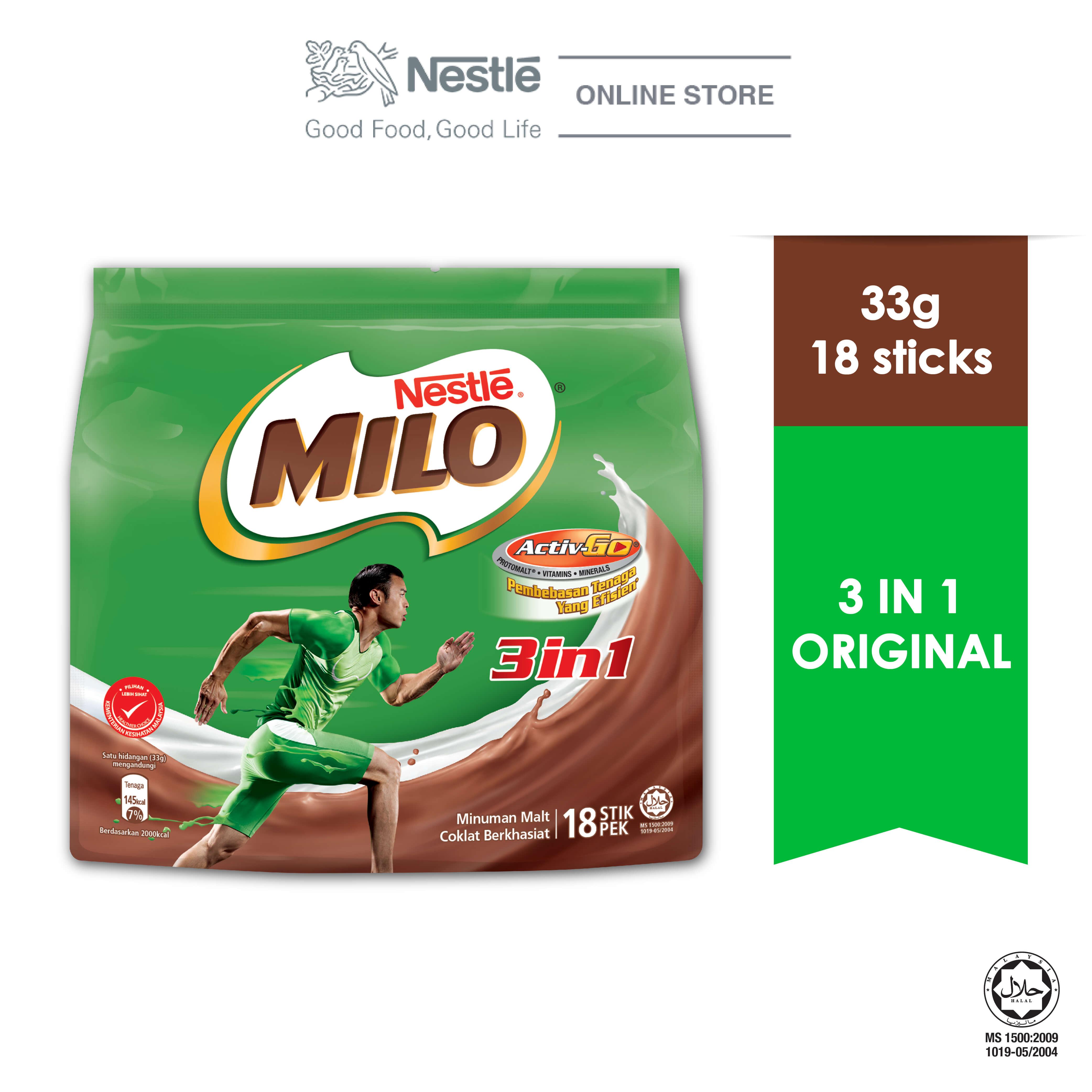 NESTLE MILO 3IN1 ACTIV-GO 18 Sticks 33g
