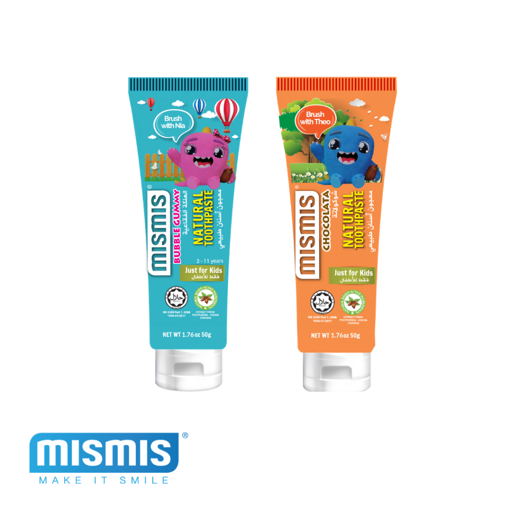 Mismis Kids Natural Toothpaste (CHOCOLATA + BUBBLEGUMMY)