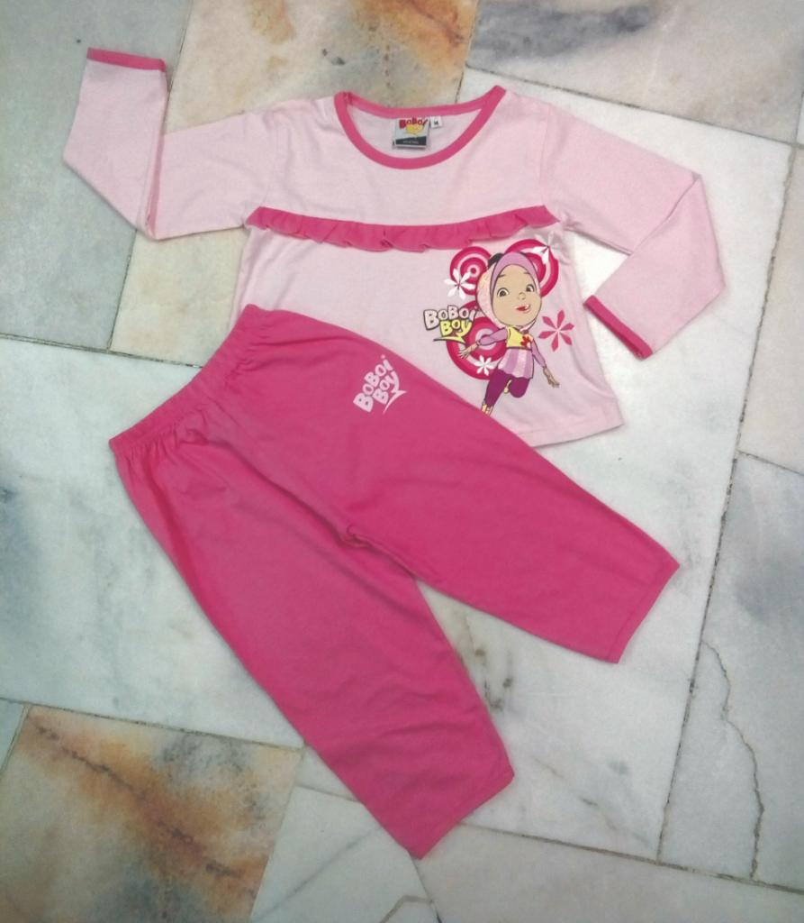 BoBoiBoy Yaya Girl Pyjamas 100%Cotton (BGJ 98)