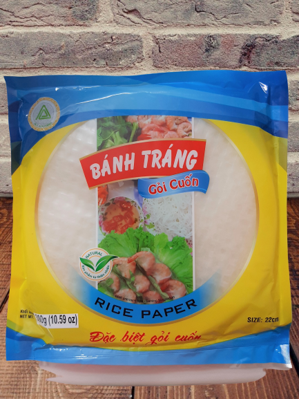 Banh Trang Goi Cuon Rice Paper Spring Roll Popiah Popia 22cm 300G