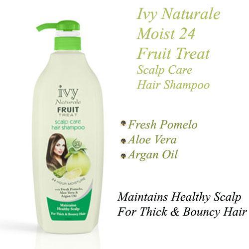 Ivy Naturale Moist 24 Fruit Treat Scalp Care Hair Shampoo With Fresh Pomelo, Aloe Vera & Argan Oil  (1000ml)