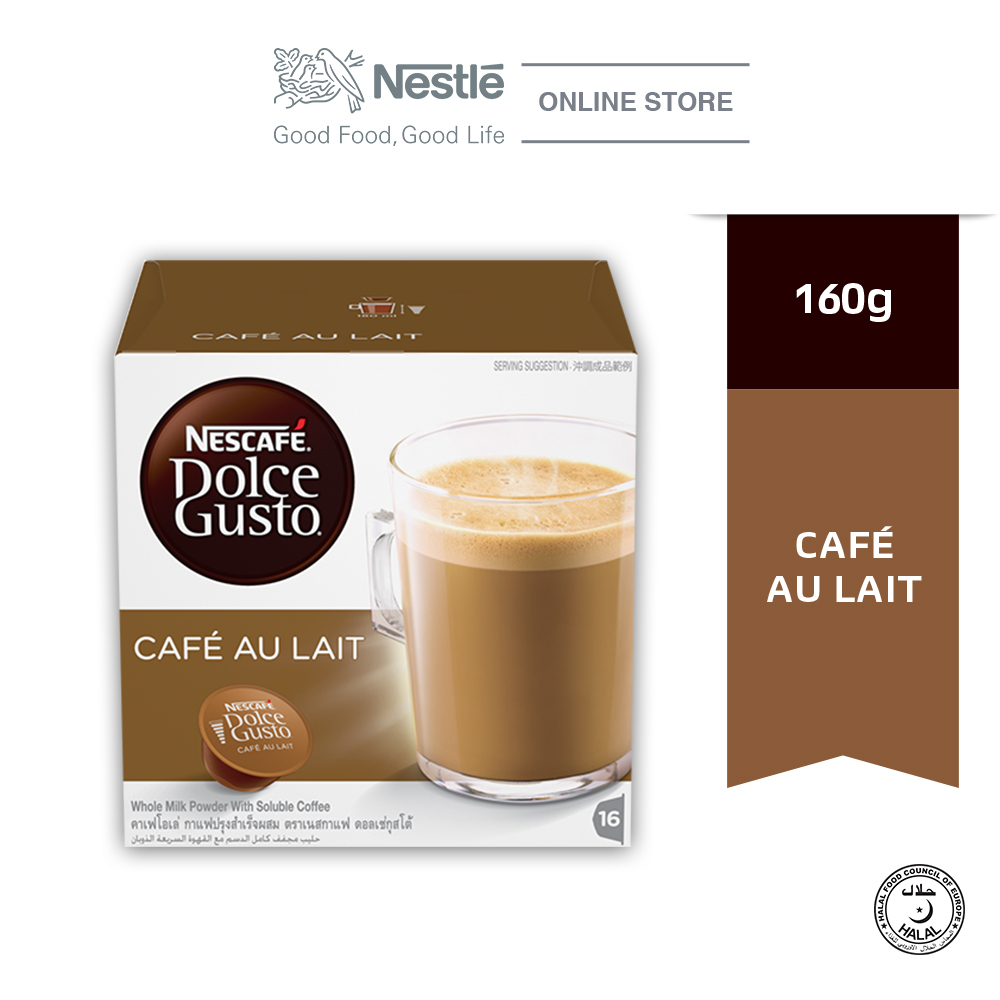 NESCAFE Dolce Gusto Cafe au Lait Coffee 16 Capsules Per Box ExpDate:SEP20