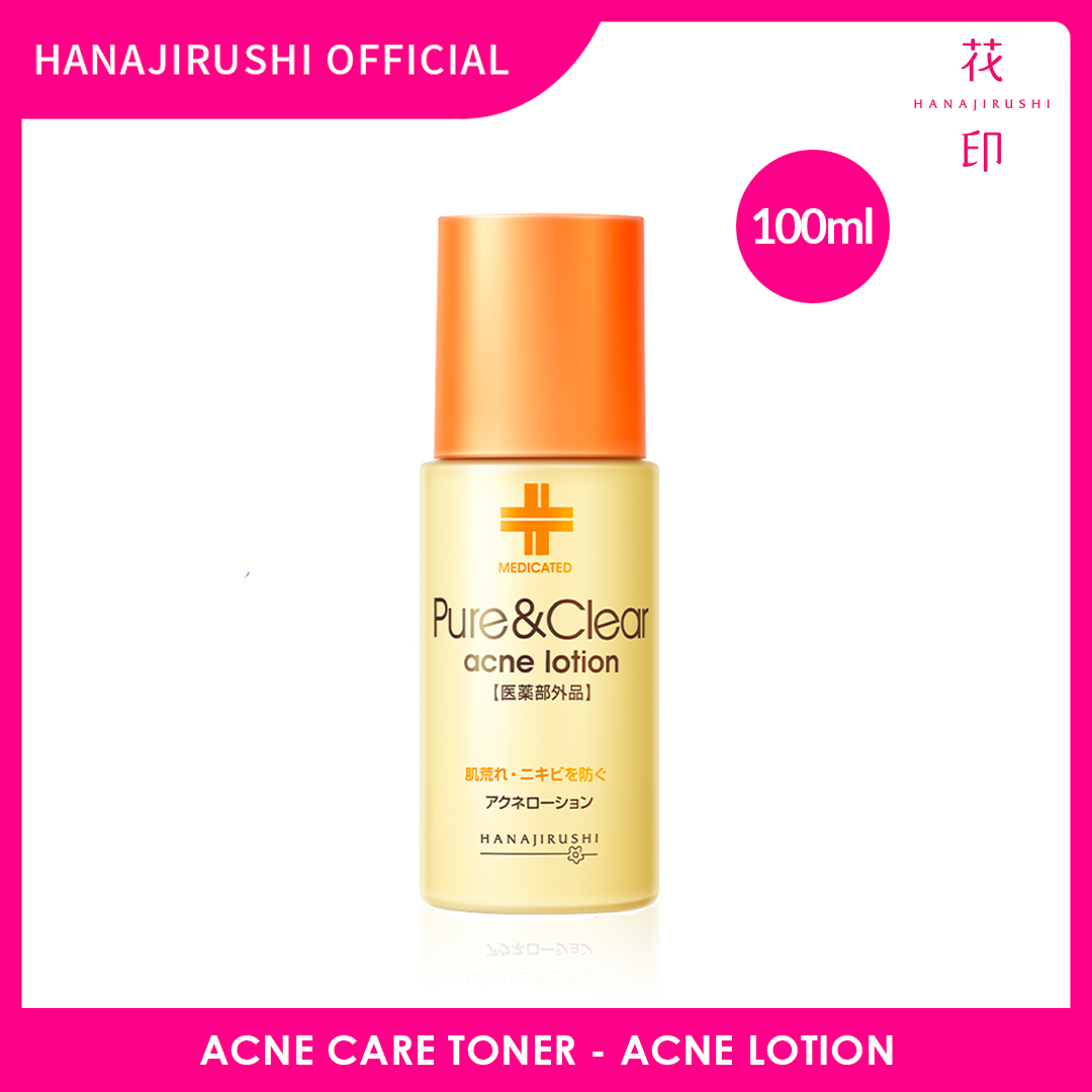 Hanajirushi Acne Care Toner - Pure & Clear Acne Lotion 100ml
