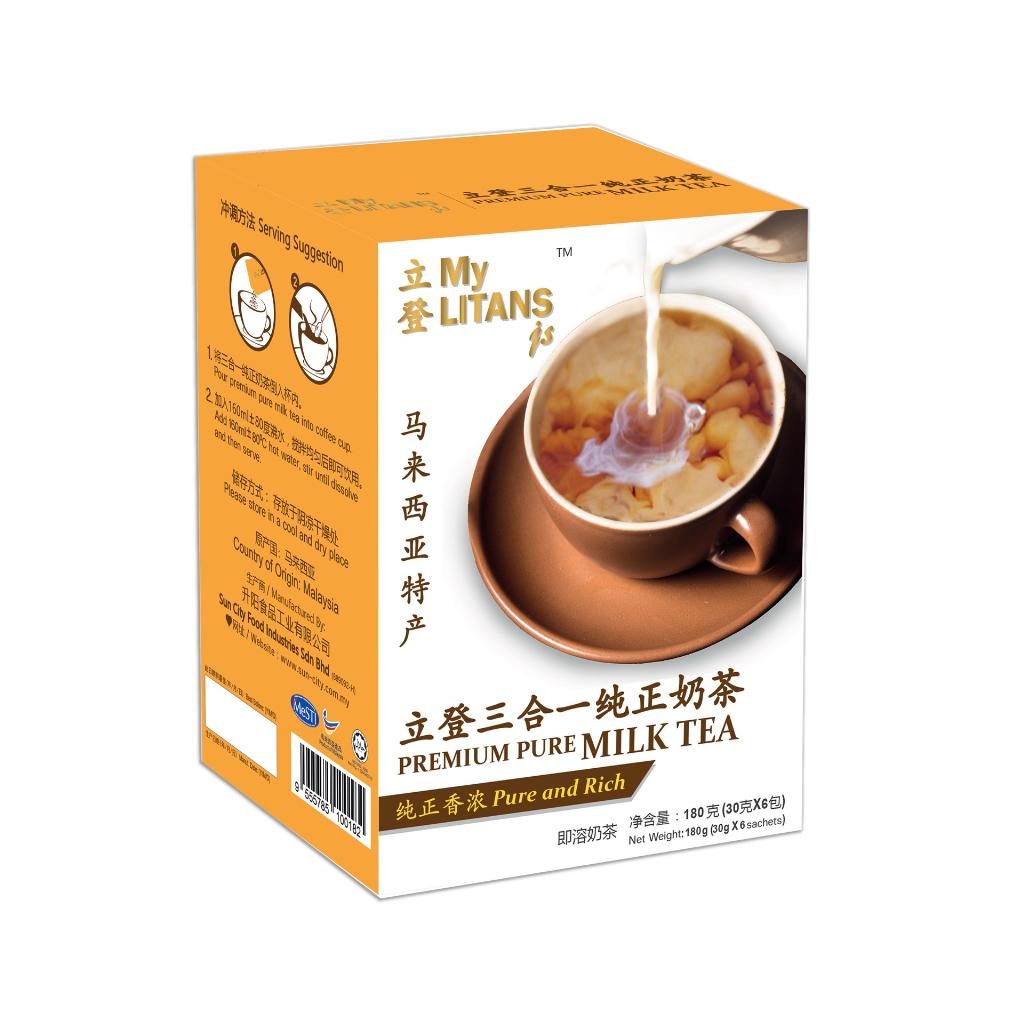 MyLITANSjs 3 in 1 Premium Pure Milk Tea (30g x 6 sachets)