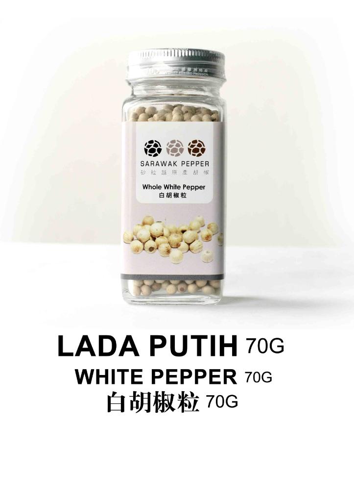 Sarawak White Pepper (70g)