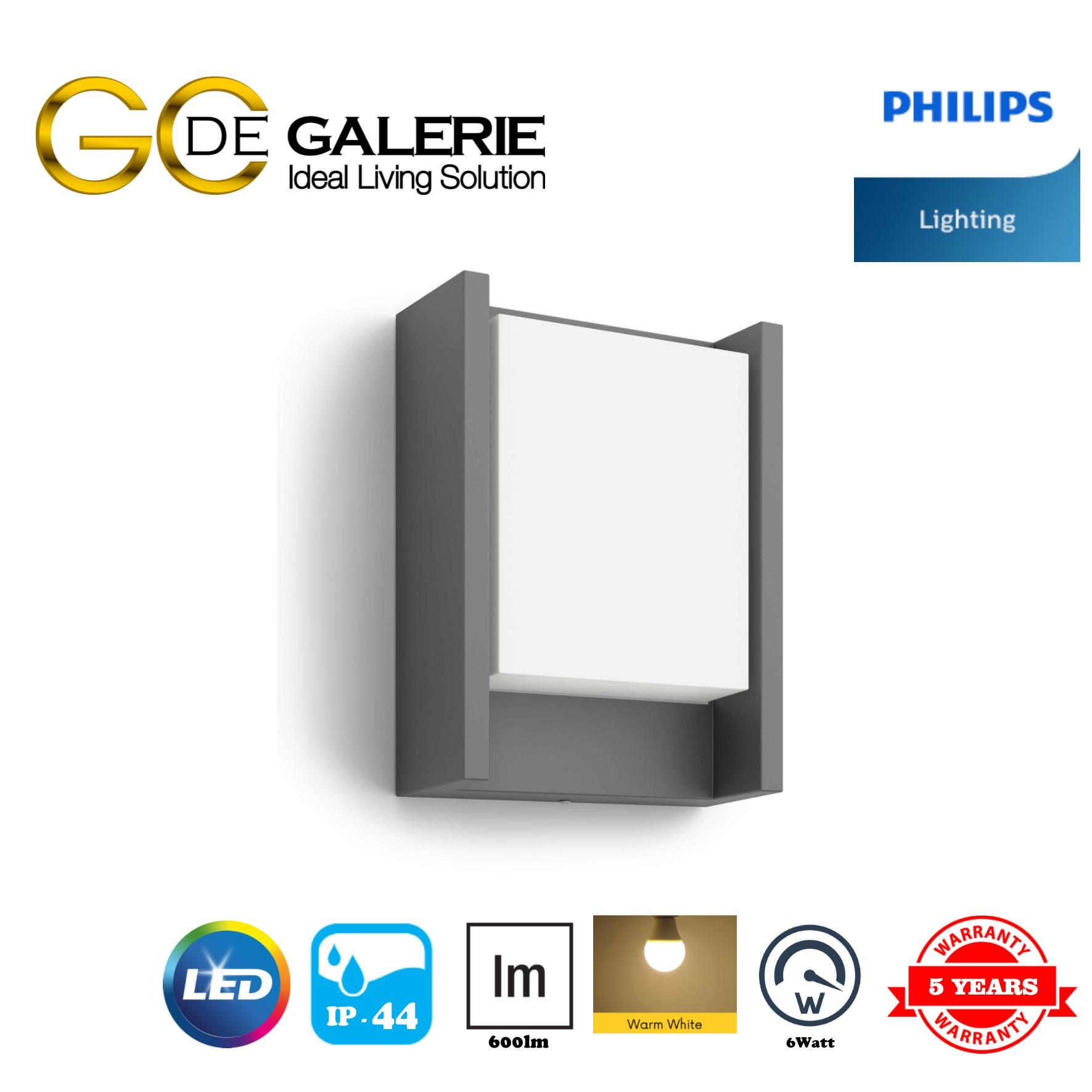 WALL LIGHT OUTDOOR LED PHILIPS 16460 ARBOUR ANTHRACITE
