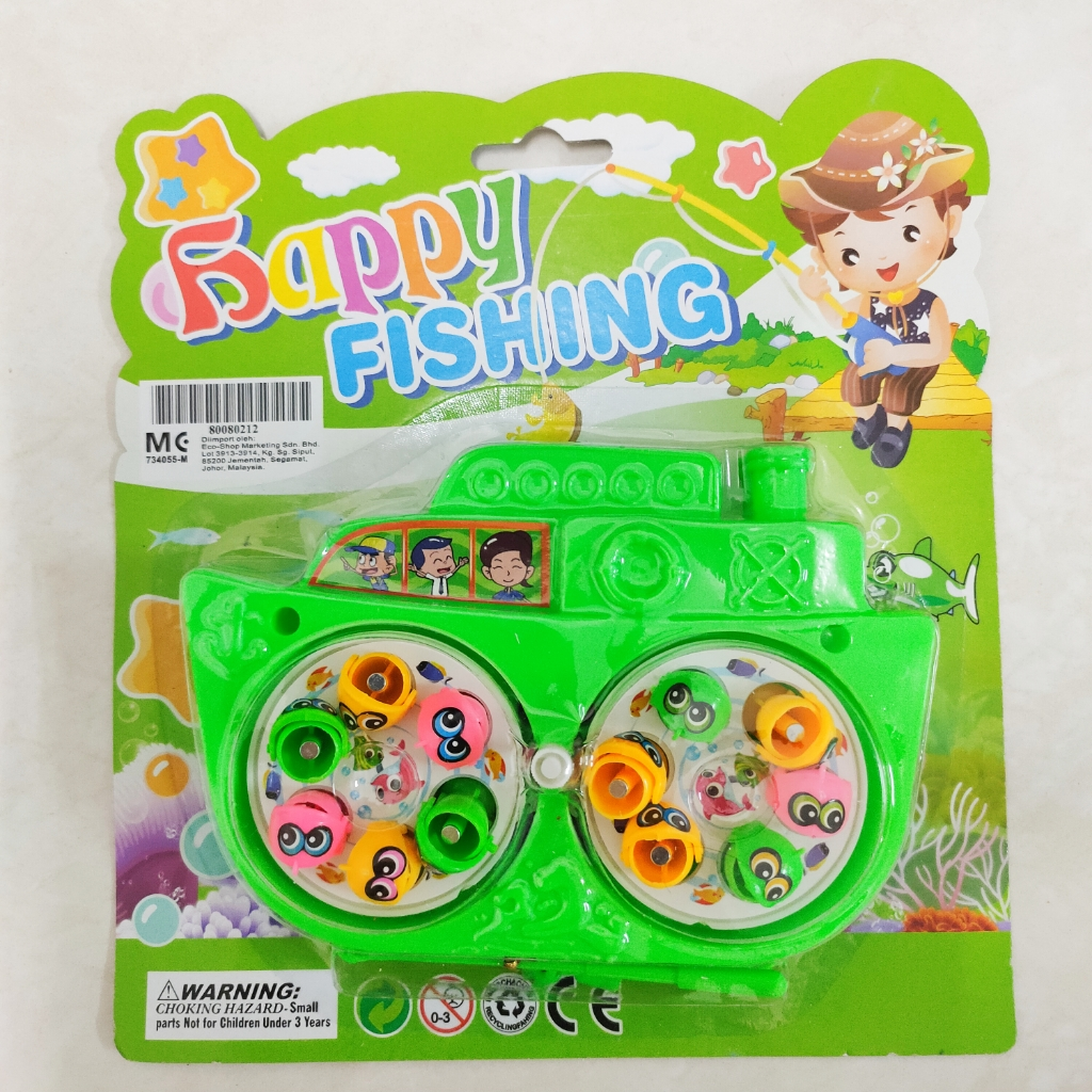 Rotating Fishing Game Kid Toy Ship with Rod Magnetic